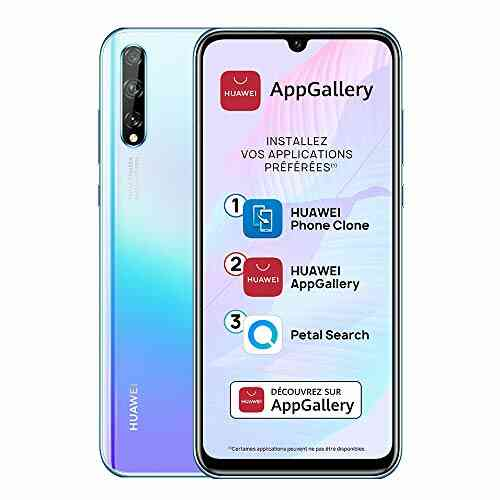 "Huawei P smart S Smartphone (6.3"", 4/128 Go, Double Nano SIM EMUI 10.1 & AppGallery), Triple Caméra avec Capteur Principal de 48MP, Breathing Crystal [Version 1"